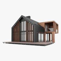 3D Model Barnhouse Modern Style