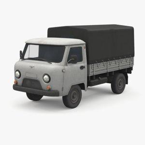 uaz 452d van 3D model