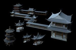 3D ancient architecture model