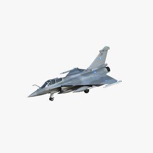 3D rafale c greek air force model