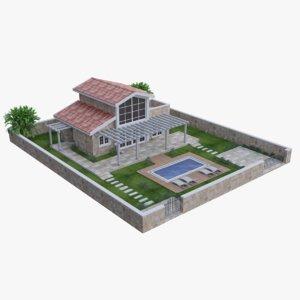 3D house modeled