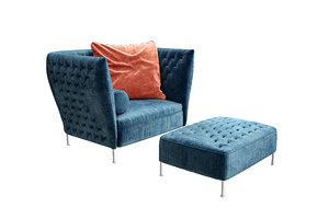 seat couch furniture 3D model