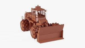dozer bulldozer 3D model