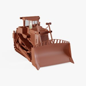 3D dozer bulldozer