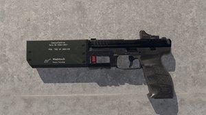 sfp9 pistol ue4 3D model