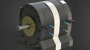 3D wankel engine model