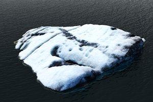 real iceberg scan 3D model