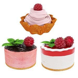 raspberry cakes model