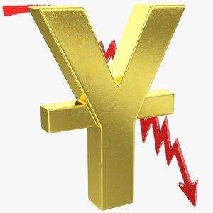 3D graph yuan symbol