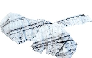 3D model real iceberg scan