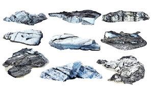 3D real iceberg scan pack model