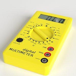 digital multimeter meters 3d model