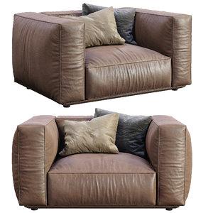 3D model marechiaro armchair arflex