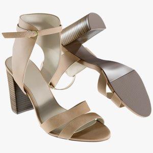 realistic women s shoes 3D
