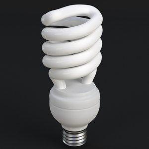 ge-style fluorescent light bulb 3ds