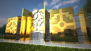 3D inca style building model