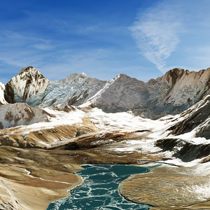 3D himalaya mountain landscape model
