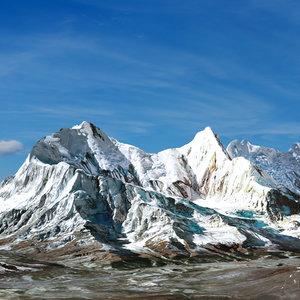 himalaya mountain landscape model