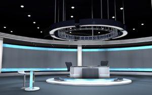 tv virtual set model