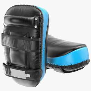 3D curved leather arm pads model