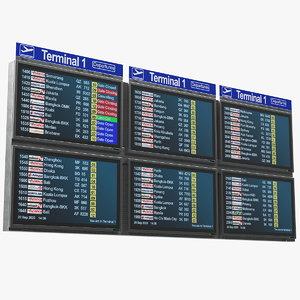 3D flight information display model