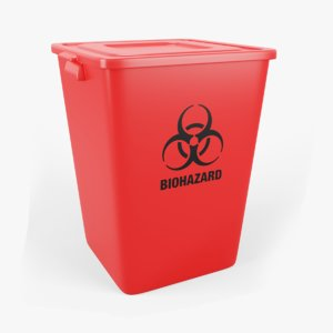 3D waste container biohazard
