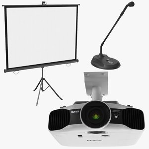 3D model real conference equipment