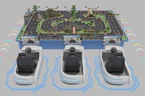 vr virtual racing 3D model