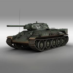 t-34-76 - 1942 49-43 3D model