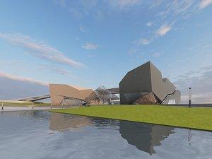 3D building museum architecture