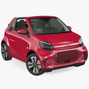 3D smart eq cabrio rigged