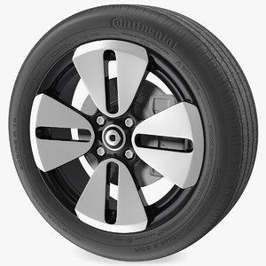 3D smart eq cabrio rim wheel model