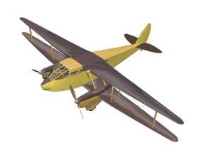 3D model airplane aviation