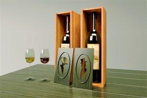 3D gift wine decoration model