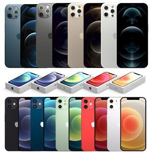 3D 2020 iphone phones model