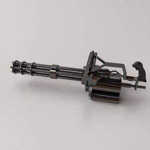 3D minigun gun model