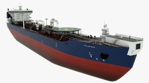 3D chemical tanker polar sun model