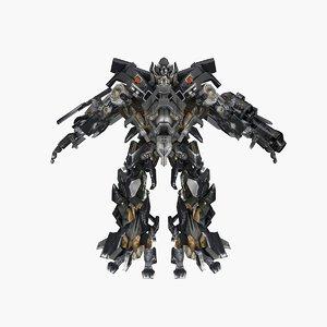 3D ironhide transformation model