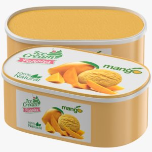 mango ice cream box model