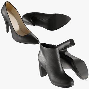 realistic heels 20 shoes 3D