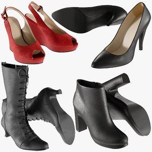 realistic heels 22 shoes 3D model