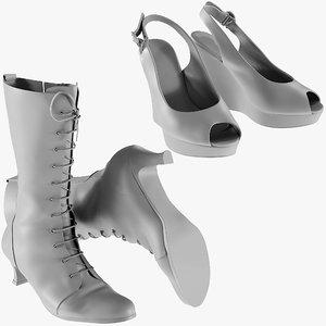 3D model mesh heels - shoes