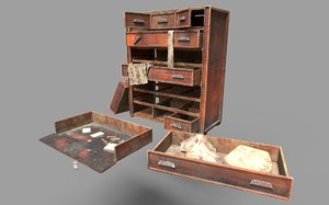 abandoned cabinet drawers 3D model