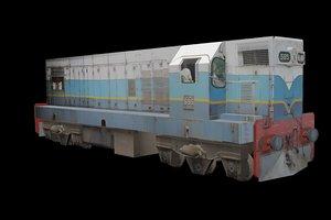 m2 locomotive 3D model