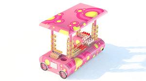 3D candy kiosk model