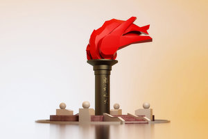 revolutionary sculpture plaza meichen 3D