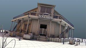wilde west saloon 3D model