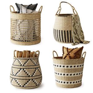 3D set baskets