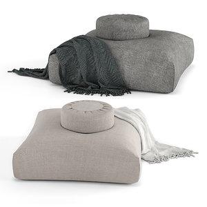 sedona pillow set 3D