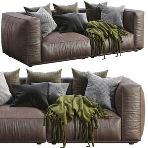 3D model marechiaro leather sofa arflex